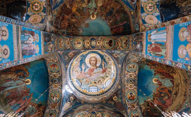 Sistine Chapels ceiling low-angle photo